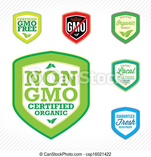 Non Gmo Labels Non Gmo Or Gmo Free Labels To Indicate Non