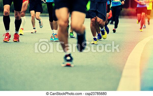 non identificato, gambe, atleti, maratona - csp23785680