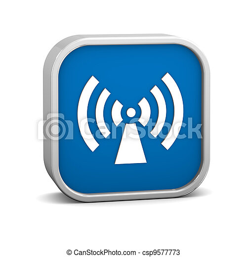 Non ionizing radiation sign - csp9577773