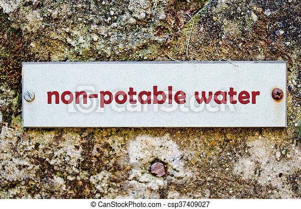 Non-potable water - csp37409027
