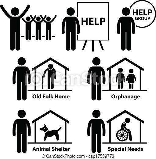 Non Profit Social Service Volunteer - csp17539773