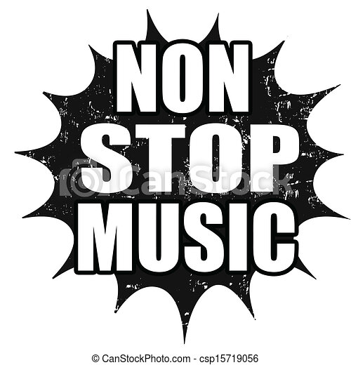 Non Stop Music Stamp