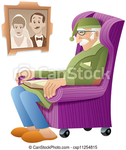 Nonno In Poltrona.Nonno