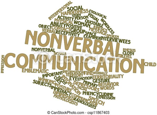 Nonverbal communication and pictures of verbal assignment on