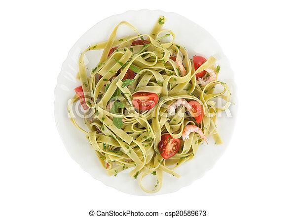 noodles on a plate - csp20589673