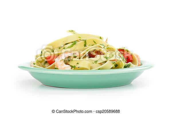 noodles on a plate - csp20589688