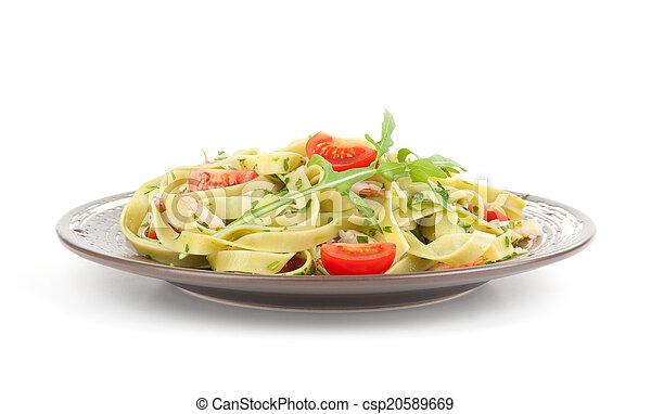 noodles on a plate - csp20589669