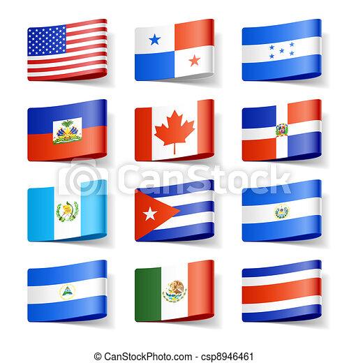 nord, flags., america., mondo - csp8946461