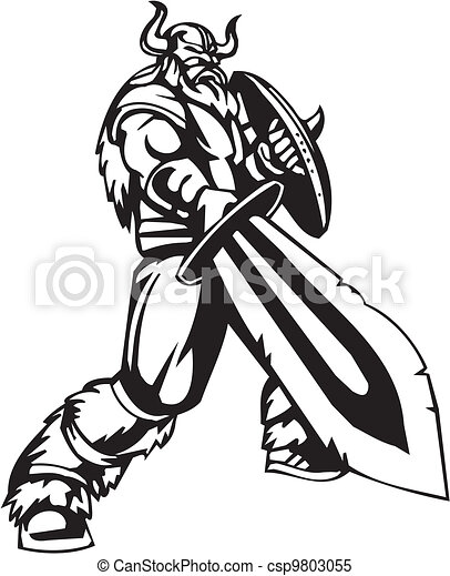 Nordic viking vector illustration vinyl ready