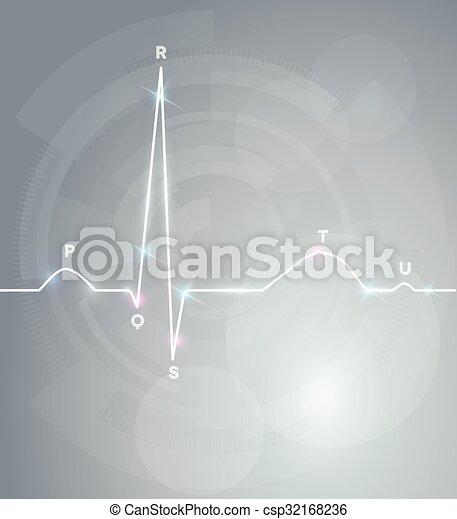 Normal Cardiogram test - csp32168236