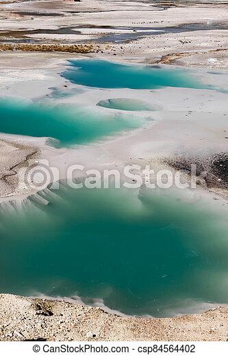Norris basin Geyser in Yellowstone national park - csp84564402