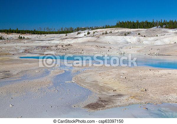 Norris Geyser Basin in Yellowstone National Park, Wyoming, USA. - csp63397150