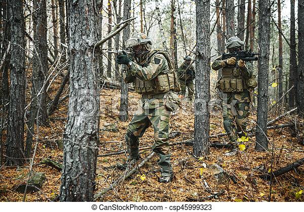 norrman, skog, tjäna som soldat - csp45999323