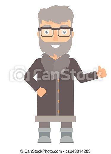 Hombre del norte dando ilustraciones de vectores. - csp43014283