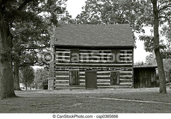 norteamericano, 2, -, arquitectura, cabaña - csp0365666