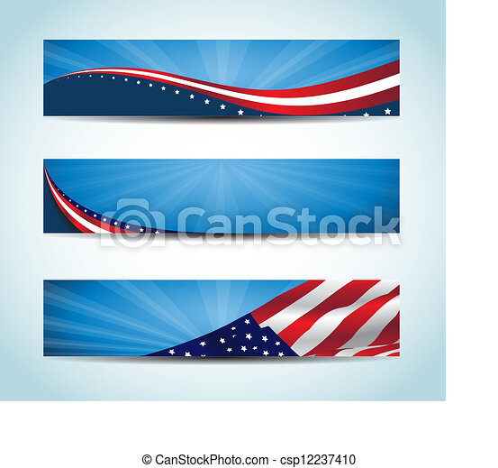 Estandarte americano - csp12237410