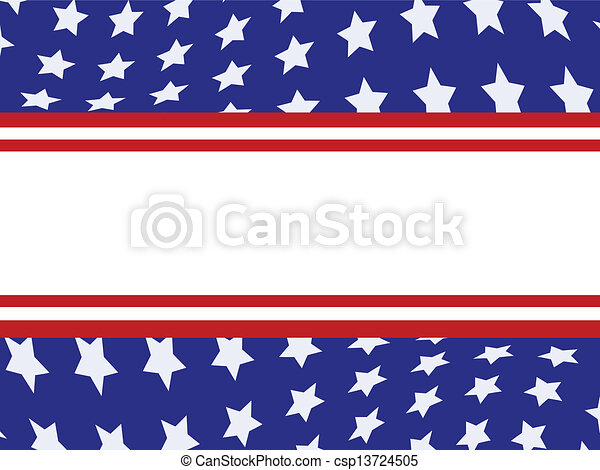 Estandarte americano - csp13724505
