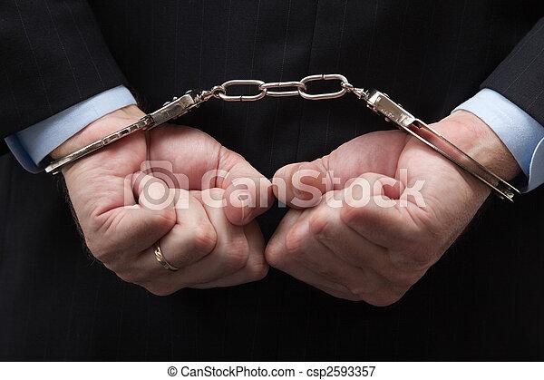 Banquero americano y crimen de color blanco - csp2593357