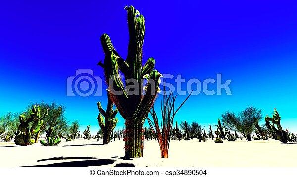 El desierto americano - csp34890504