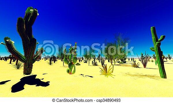 El desierto americano - csp34890493