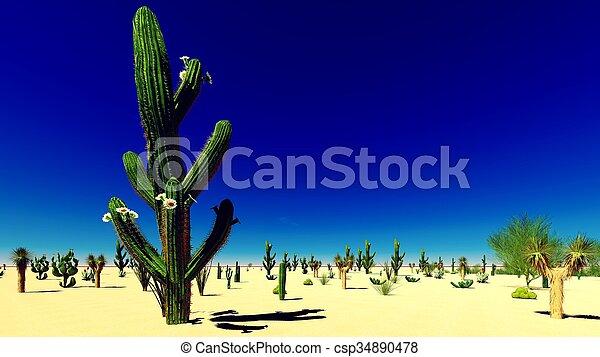 El desierto americano - csp34890478