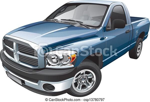 Una camioneta americana de tamaño completo - csp13780797
