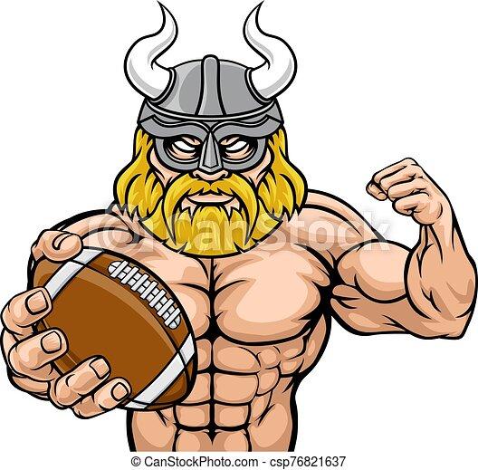 norteamericano, viking, mascota, fútbol, deportes - csp76821637