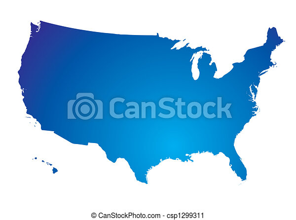 north america blue map illustration of the north american rh canstockphoto com north america clip art map north america clipart