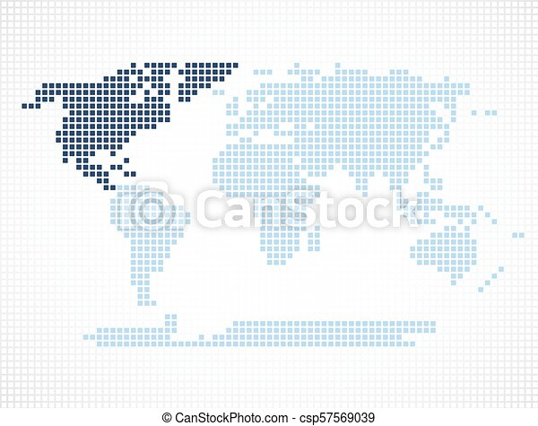 North america continent on the world map world map with highlighted north america continent on the world map csp57569039 gumiabroncs Choice Image