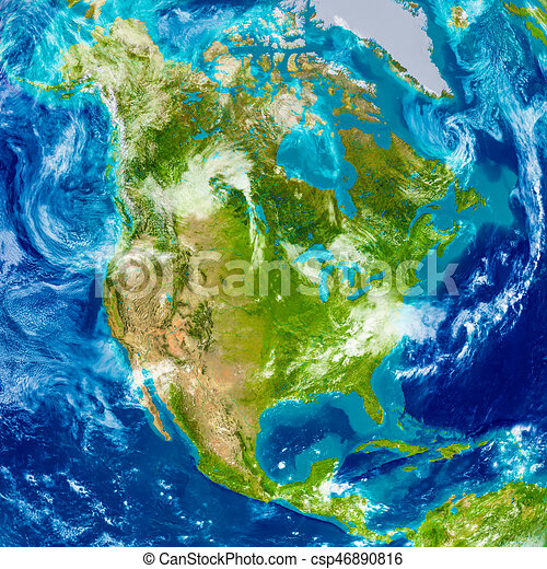 North america on physical map. North america on physical world map ...