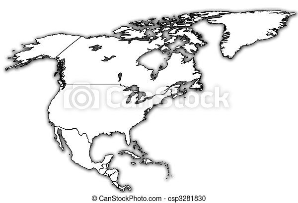 North America Political Map Some Very Old Grunge Map With - North america map drawing