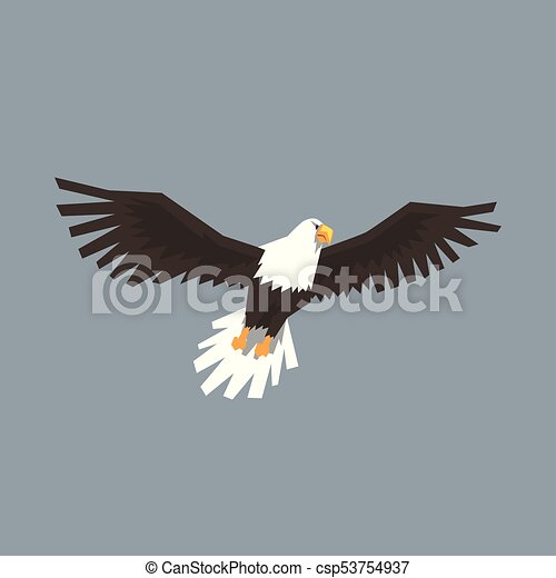 North American Bald Eagle Flying Symbol Of Freedom And Independence