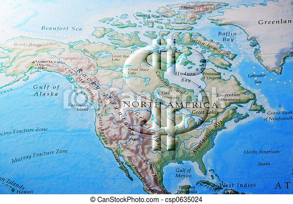 north american economy - csp0635024