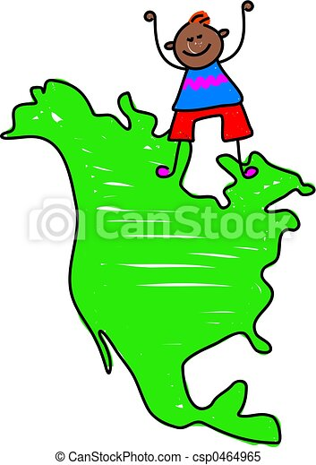north american kid happy little ethnic boy standing on a stock rh canstockphoto com north america clipart north america clipart