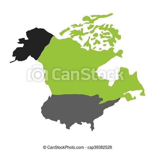 north american map isolated icon vector illustration design rh canstockphoto com north american free vector map north america vector map dwg