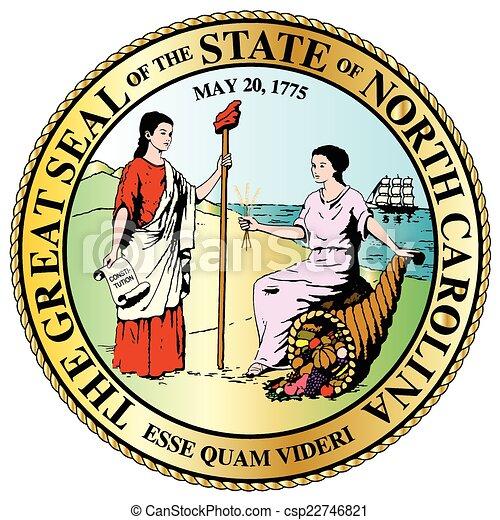 North Carolina State Great Seal - csp22746821