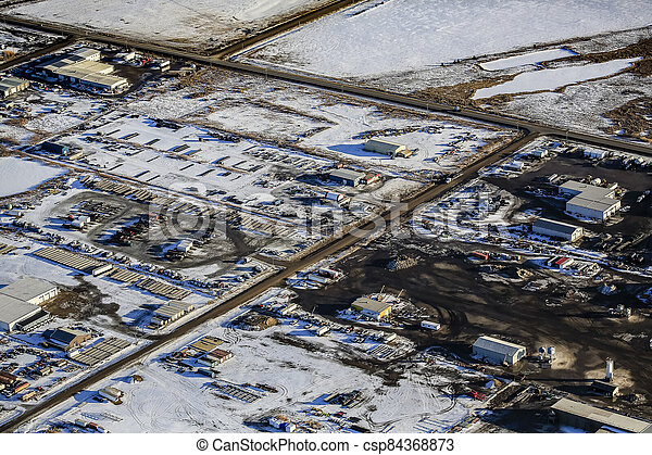 North Corman Industrial Park Aerial - csp84368873