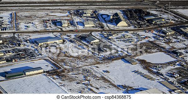 North Corman Industrial Park Aerial - csp84368875