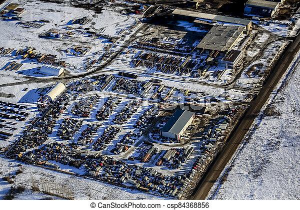 North Corman Industrial Park Aerial - csp84368856