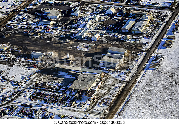 North Corman Industrial Park Aerial - csp84368858