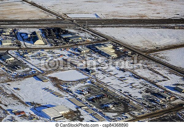 North Corman Industrial Park Aerial - csp84368890