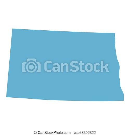 North dakota state map. Map of north dakota state on a white ...