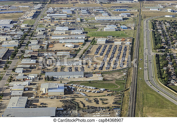 North Industrial Aerial - csp84368907