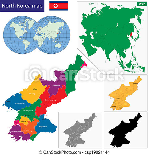 North korea map Map of administrative divisions of north eps
