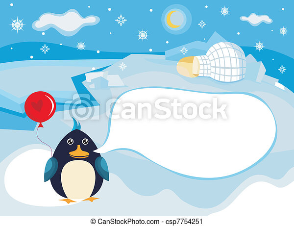 north pole background - csp7754251