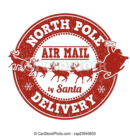 North Pole delivery stamp - csp23543633