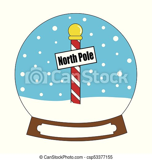 north pole snowglobe clipart vector search illustration drawings rh canstockphoto com north pole clip art free santa north pole clipart