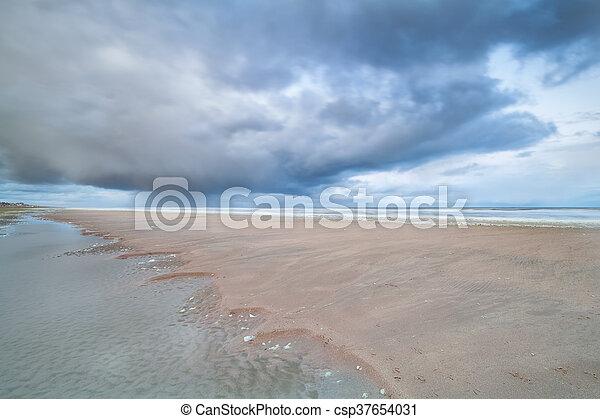 North sea beach at low tide - csp37654031