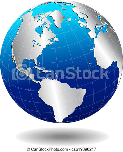 North south america global world vector map icon of the vector vector map icon of the world in globe form gumiabroncs Image collections