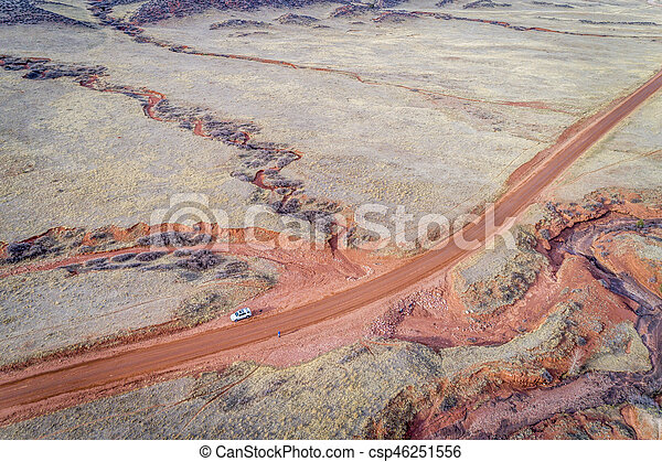 northern Colorado foothills aerial view - csp46251556